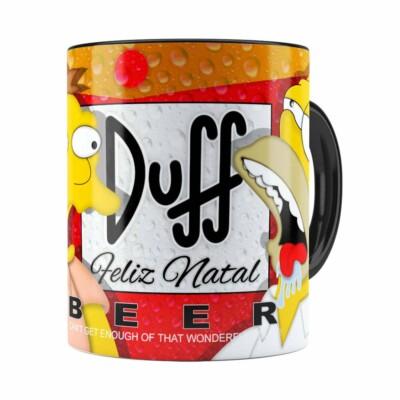 Caneca Simpsons Barney E Homer Duff Beer Natal Preta