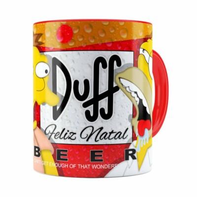 Caneca Simpsons Barney E Homer Duff Beer Natal Vermelha
