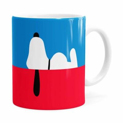 Caneca Snoopy Minimalista Branca