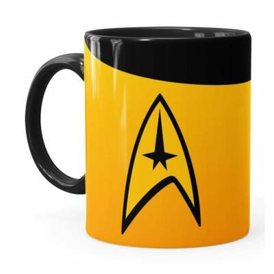 Caneca Star Trek Comando Preta