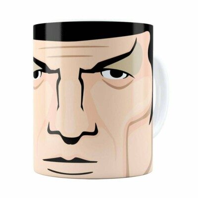 Caneca Star Trek Spock V02 Branca