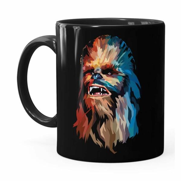 Caneca Star Wars Chewbacca Color Preta