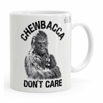 Caneca Star Wars Chewbacca Dont Care 02 Branca