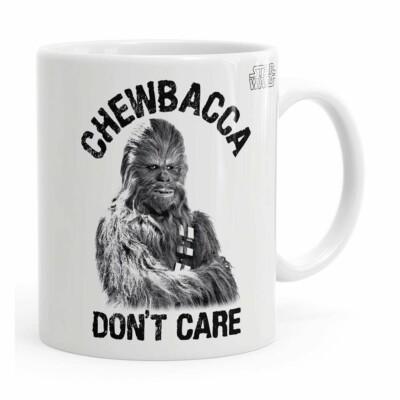 Caneca Star Wars Chewbacca Dont Care 02 Branca