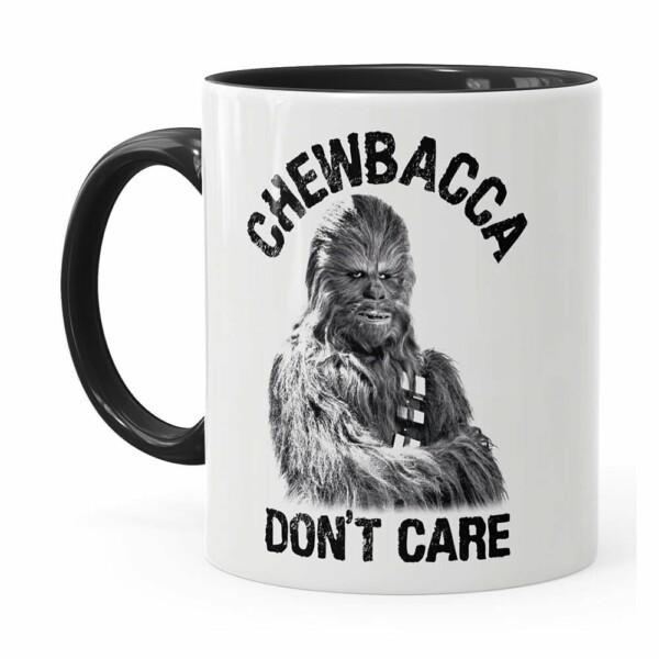 Caneca Star Wars Chewbacca Dont Care 02 Preta