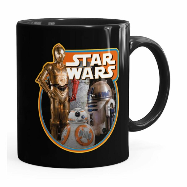Caneca Star Wars Droids Preta