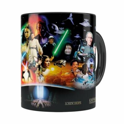 Caneca Star Wars Filmes Preta