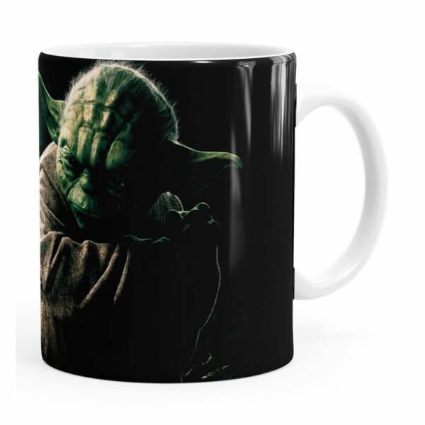 Caneca Star Wars Mestre Yoda 03 Branca