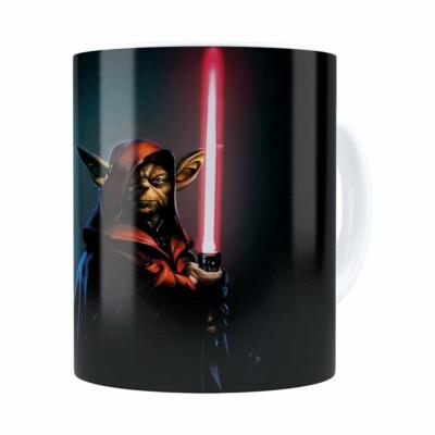 Caneca Star Wars Mestre Yoda 04 Branca