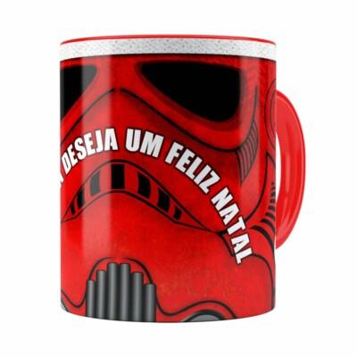 Caneca Star Wars Natal Stormtrooper Vermelha