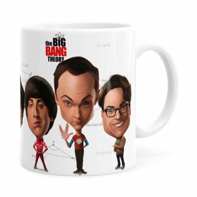 Caneca The Big Bang Theory Caricaturas Branca