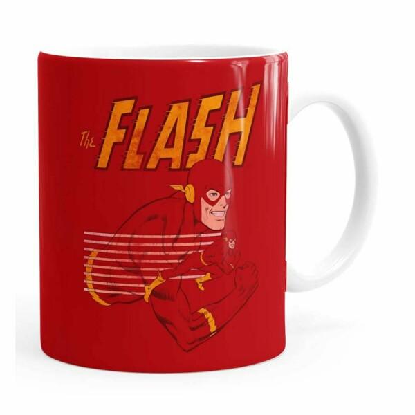 Caneca The Flash V03 Porcelana Branca