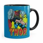 Caneca Thor Em Ação Preta
