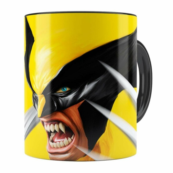 Caneca Wolverine X-Men Preta