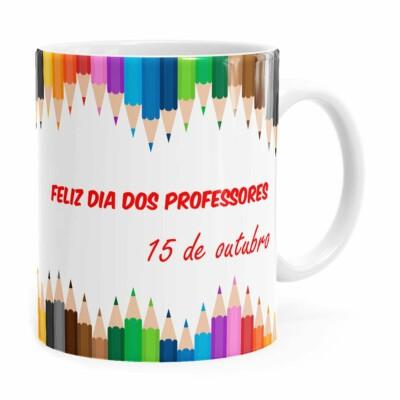 Caneca Dia Dos Professores 15 Outubro Branca