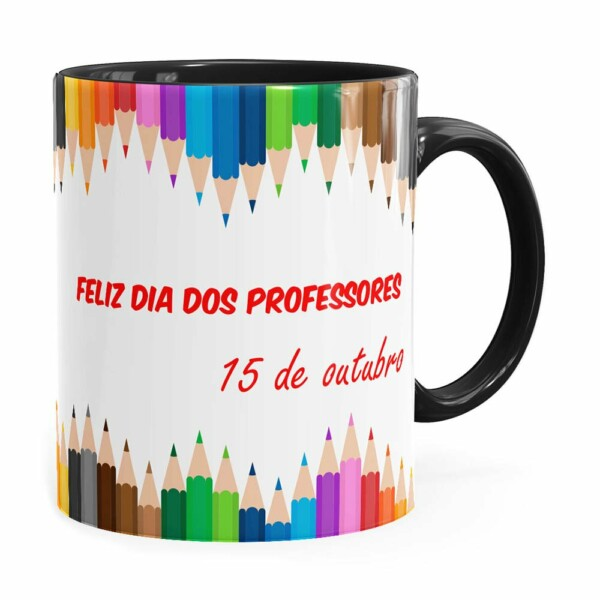Caneca Dia Dos Professores 15 Outubro Preta