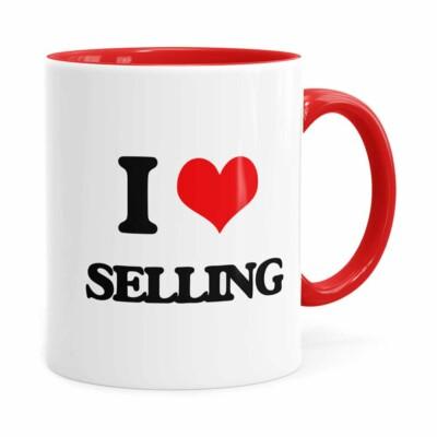 Caneca Do Vendedor I Love Selling Vermelha