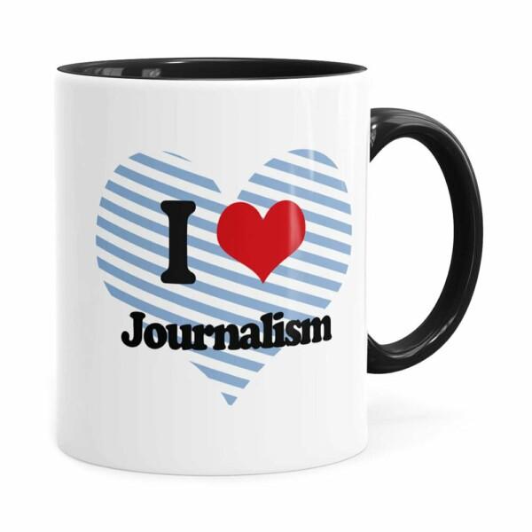 Caneca I Love Jornalism Preta