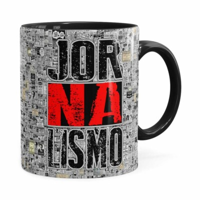Caneca Jornalismo Black Jornal Preta