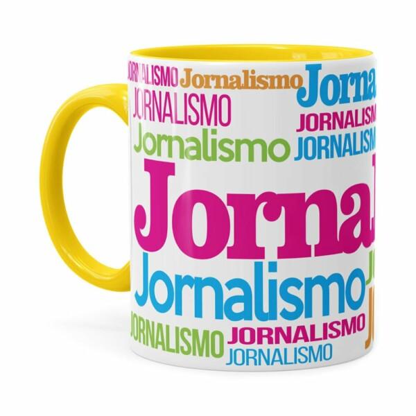 Caneca Jornalismo Colors Amarela