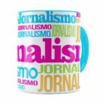 Caneca Jornalismo Colors Azul Claro