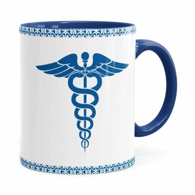 Caneca Profissões Médico V01 Azul Escuro