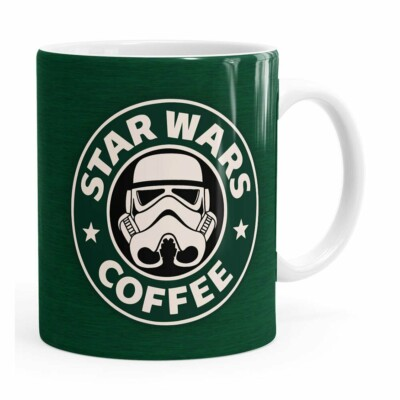 Caneca Star Wars Coffee Green Branca