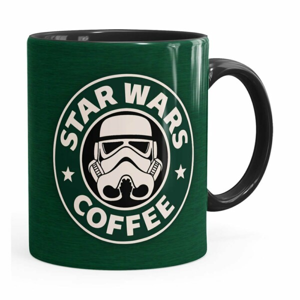 Caneca Star Wars Coffee Green Preta