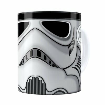 Caneca Star Wars Stormtrooper Cinza Branca