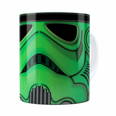 Caneca Star Wars Stormtrooper Green Branca