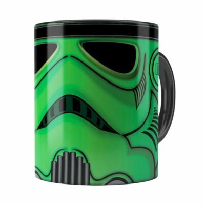 Caneca Star Wars Stormtrooper Green Preta