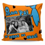 Almofada Personalizada Pai Todas As Eras Com Foto