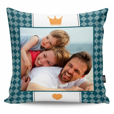Almofada Personalizada Papai é Rei Com Foto