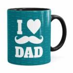 Caneca Dia Dos Pais I Love Dad V01 Preta