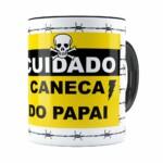 Caneca Do Papai Arame Farpado Preta