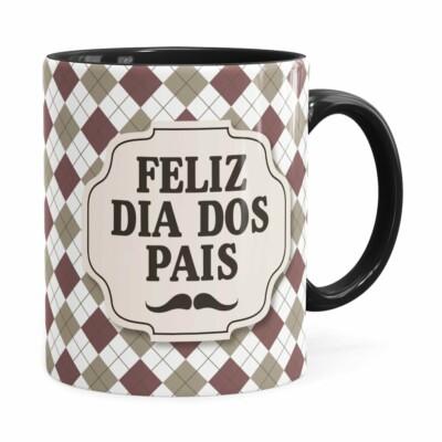 Caneca Feliz Dia Dos Pais V02 Preta
