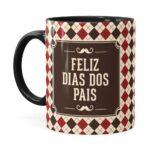 Caneca Feliz Dia Dos Pais V03 Preta