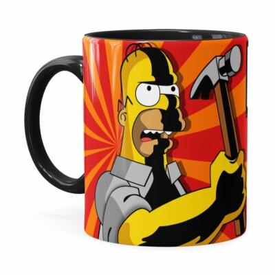 Caneca Pai Simpson Eu Faço Preta