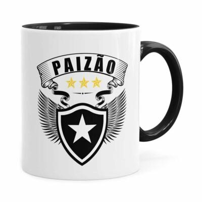 Caneca Personalizada Paizão Botafogo Asas Preta