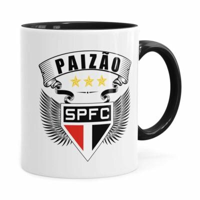 Caneca Personalizada Paizão São Paulo Asas Preta
