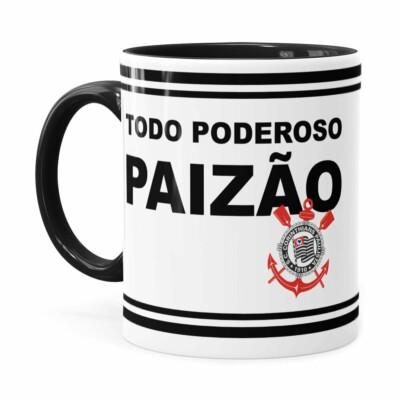 Caneca Poderoso Paizão Corinthians V02 Preta