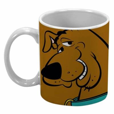 Caneca Scooby-doo Marrom 300ml Porcelana