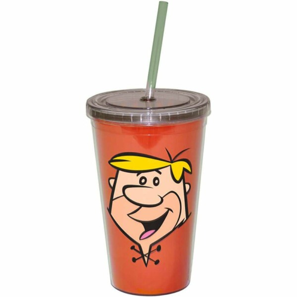 Copo Flintstones Barney 500ml Com Canudo