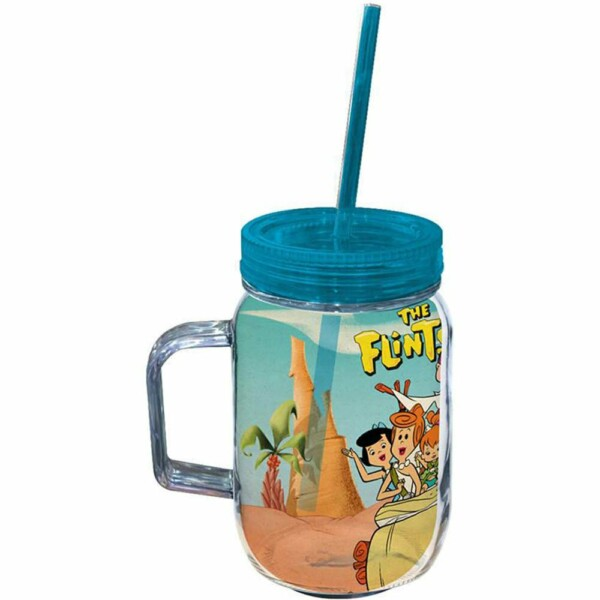 Copo Jarra Flintstones Family In Car 550ml