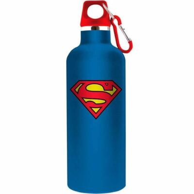 Garrafa Superman Logo Azul 750ml Alumínio