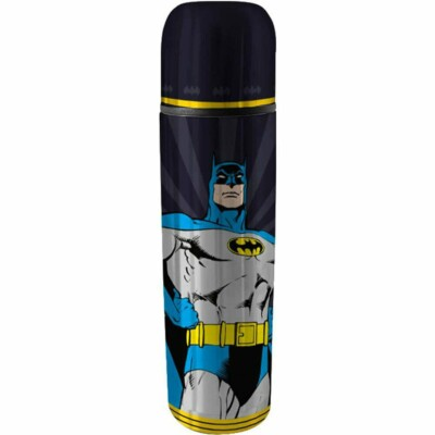 Garrafa Térmica Batman Hq Preto 500ml Inox
