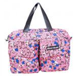 Bolsa Mickey Dobrável De Viagem Florido Rosa