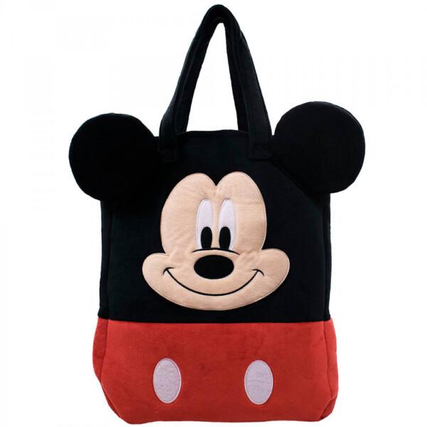Bolsa Mickey Pelúcia Rosto