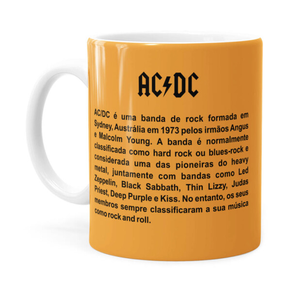 Caneca Ac Dc For Those About To Rock Branca
