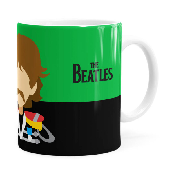 Caneca Beatles George Banda Branca